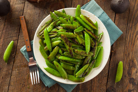 sweet sugar snap: Homemade Sauteed Sugar Snap Peas Ready to Eat