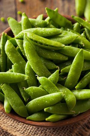 snap: Organic Green Sugar Snap Peas Ready to Eat