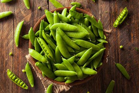 sweet sugar snap: Organic Green Sugar Snap Peas Ready to Eat