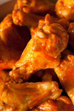wing: Spicy Homemade Buffalo Wings with Dip and Beer