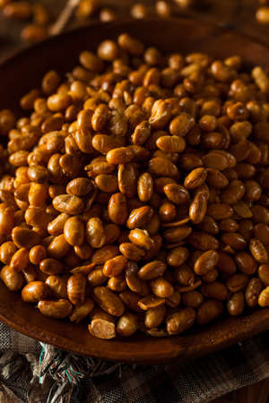 Homemade Salted Soy Nuts in a Bowl