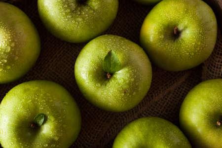 Organic Green Granny Smith Apple Ready to Eat Archivio Fotografico