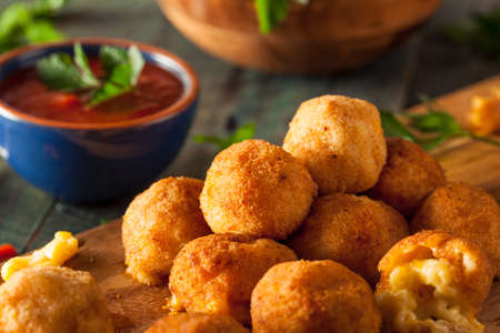balls deep: Fried Mac and Cheese Bites with Dipping Sauce