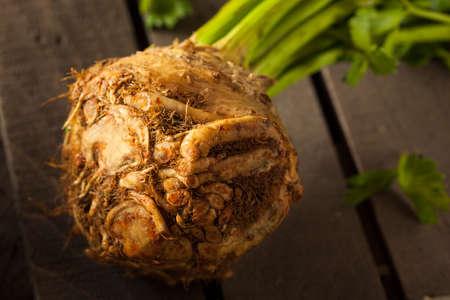 Raw Organic Celery Root Ready to Cut 版權商用圖片