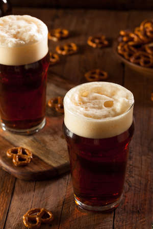ale: Fresh Brewed Oktoberfest Autumn Ale in a Pint Glass