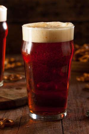 brewed: Fresh Brewed Oktoberfest Autumn Ale in a Pint Glass
