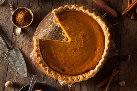 Festive Homemade Pumpkin Pie with Whipped Cream