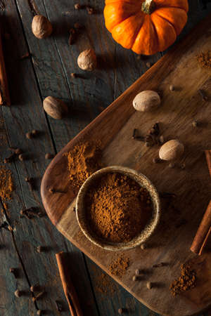 spice: Organic Raw Pumpkin Spice with Cinnamon Allspice Nutmeg and Ginger Stock Photo