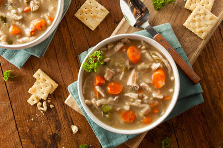 chicken noodle: Homemade Chicken Noodle Soup with Carrots and Celery