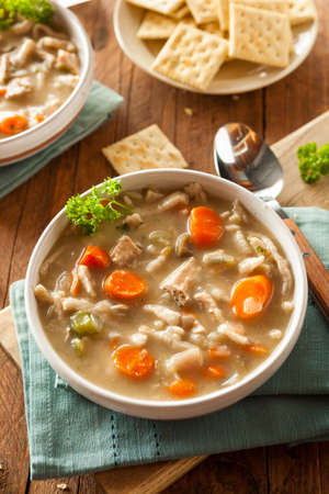 chicken noodle soup: Homemade Chicken Noodle Soup with Carrots and Celery