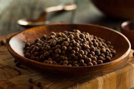 allspice: Raw Organic Brown Allspice Ready to Use Stock Photo