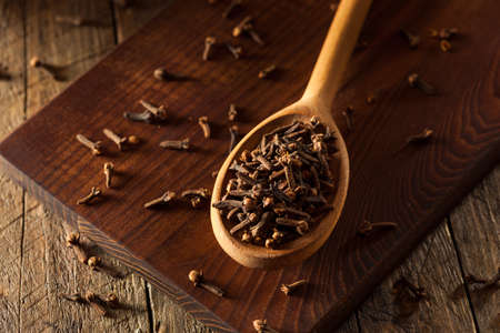 Raw Brown Organic Cloves Ready to Use Imagens - 47191781