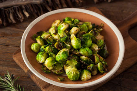 Homemade Roasted Brussel Sprouts with Salt and Pepper