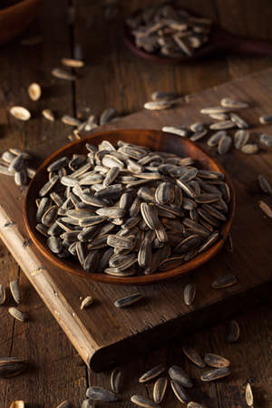 sunflower seeds: Organic Salted and Roasted Sunflower Seeds Stock Photo