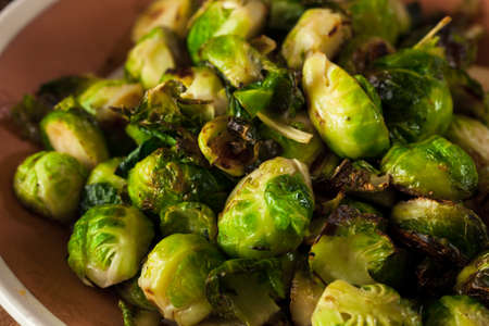 brussel: Homemade Roasted Brussel Sprouts with Salt and Pepper