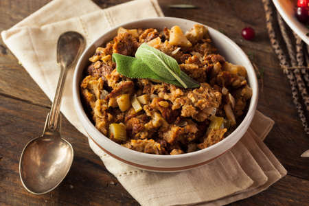 Homemade Thanksgiving Day Stuffing with Sage and Celery
