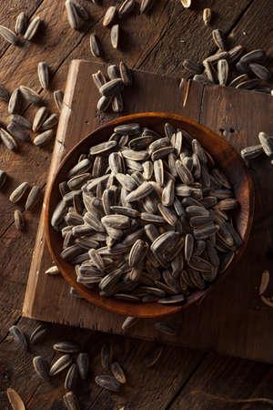 sunflowerseed: Organic Salted and Roasted Sunflower Seeds Stock Photo