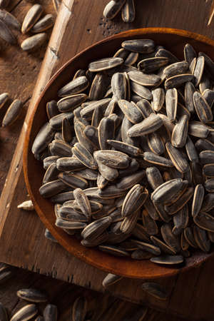 sunflowerseed: Organic Salted and Roasted Sunflower Seeds Ready to Eat Stock Photo