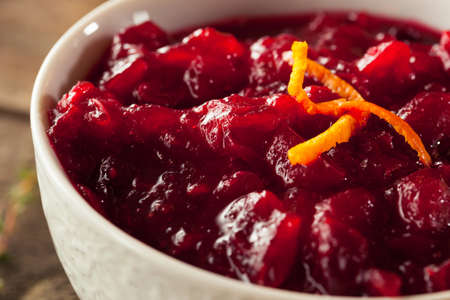 cranberry fruit: Homemade Organic Red Cranberry Sauce for Thanksgiving