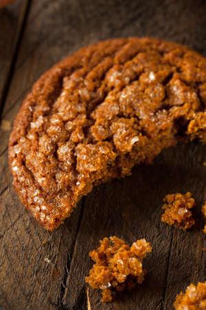 galleta de jengibre: Caliente hecho en casa Gingersnap galletas cubiertas con azúcar Foto de archivo