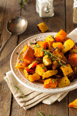 squash: Homemade Roasted Root Vegetables with Squash and Pumpkin