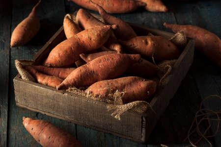 Raw Organic Sweet Potatoes in a Box