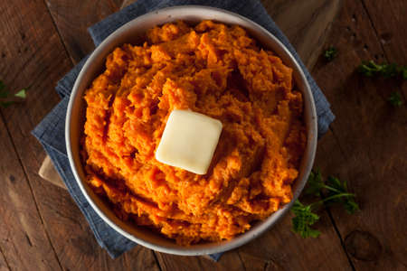 baked: Organic Homemade Mashed Sweet Potatoes with Butter