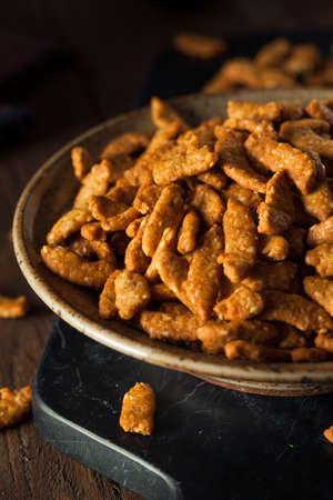 crunchy: Crunchy Homemade Sesame Sticks in a Bowl