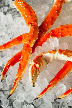 crab legs: Cooked Organic Alaskan King Crab Legs with Butter
