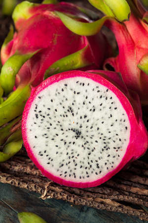 dragonfruit: Raw Organic Dragon Fruit Ready to Eat Stock Photo