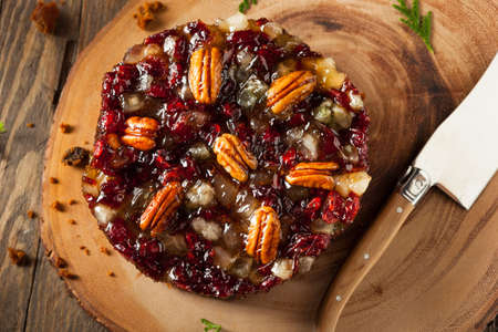 fruitcake: Festive Holiday Fruit Cake with Nuts and Berries