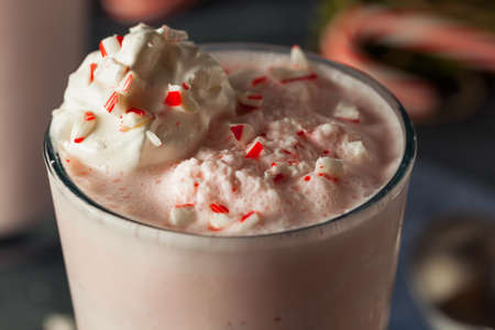 candy cane: Candy Cane Peppermint Milkshake Ready for Christmas