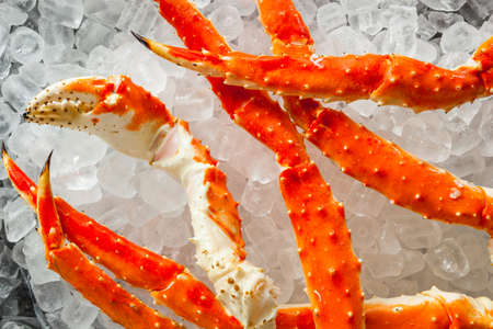 alaskan: Cooked Organic Alaskan King Crab Legs with Butter