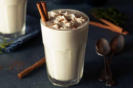 Homemade Eggnog Ice Cream Milkshake for the Holidays