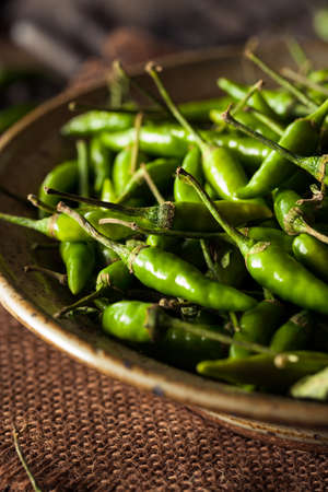 thai chili pepper: Hot Green Thai Chili Pepper