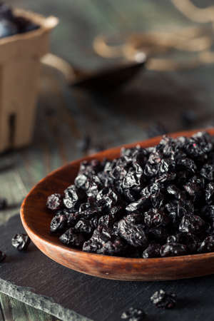 Healthy Raw Dried Blueberries in a Bowl Stok Fotoğraf