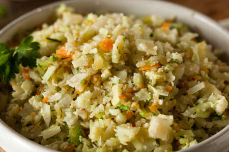 Organic Paleo Cauliflower Rice with Herbs and Spices