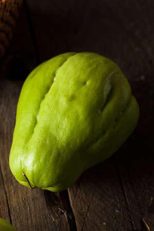 chayote: Raw Green Organic Chayote Ready to Eat
