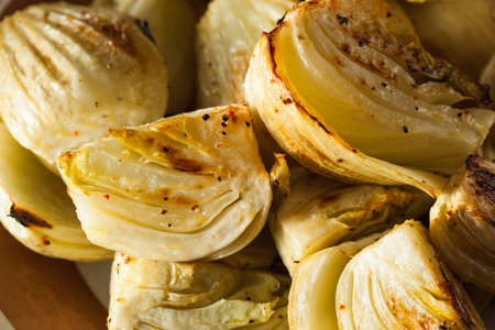 prepared dish: Organic Baked Fennel Bulbs with Salt and Pepper