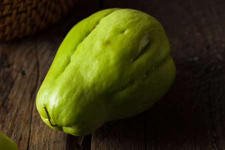 edible plant: Raw Green Organic Chayote Ready to Eat