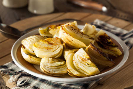 Organic Baked Fennel Bulbs with Salt and Pepper