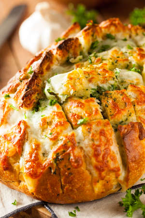 cheesy: Homemade Cheesy Pull Apart Bread with Garlic and Parsley