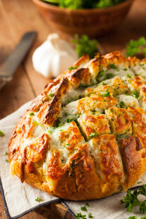 apart: Homemade Cheesy Pull Apart Bread with Garlic and Parsley