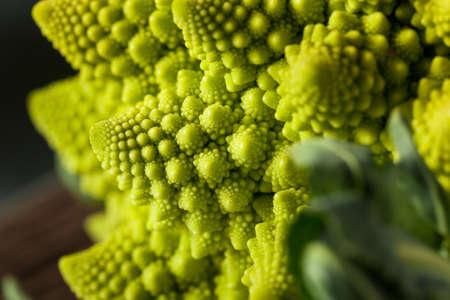 Raw Green Organic Romanesco Ready to Cook
