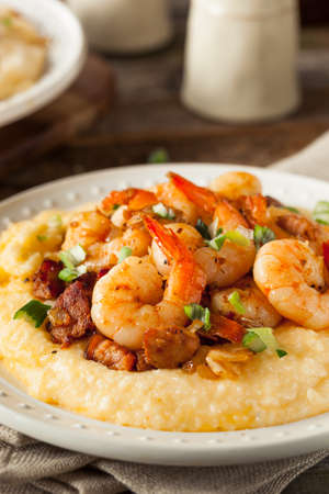 grits: Homemade Shrimp and Grits with Pork and Cheddar