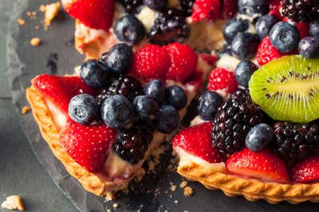 kiwi: Homemade Key Lime Fruit Tart with Berries