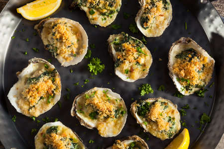shucked: Homemade Creamy Oysters Rockefeller with Cheese and Spinach