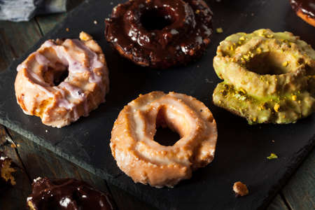 old fashioned: Homemade Old Fashioned Donuts with Chocolate and Glaze