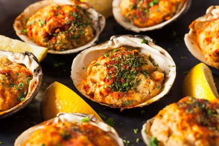 baked: Homemade Baked Clams with Lemon and Parsley