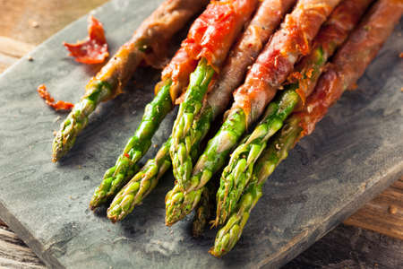 Homemade Prosciutto Wrapped Asparagus with Salt and Pepper